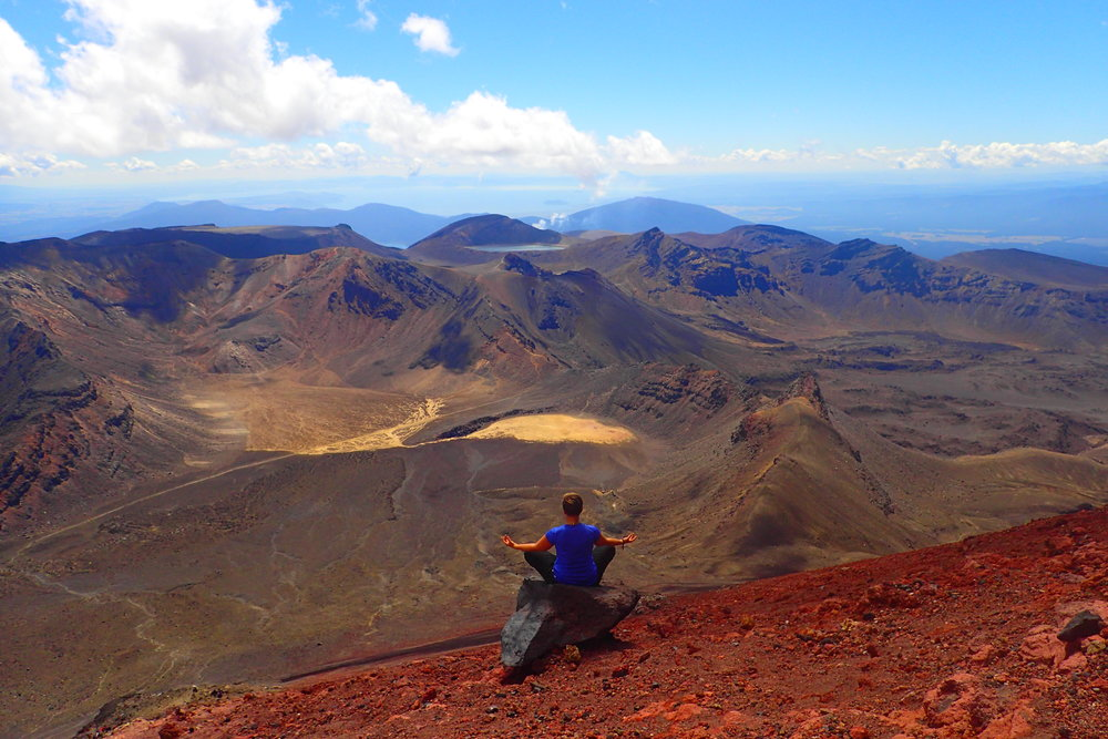 Taking in all that worldly beauty on Mt. Ngauruhoe, New Zealand