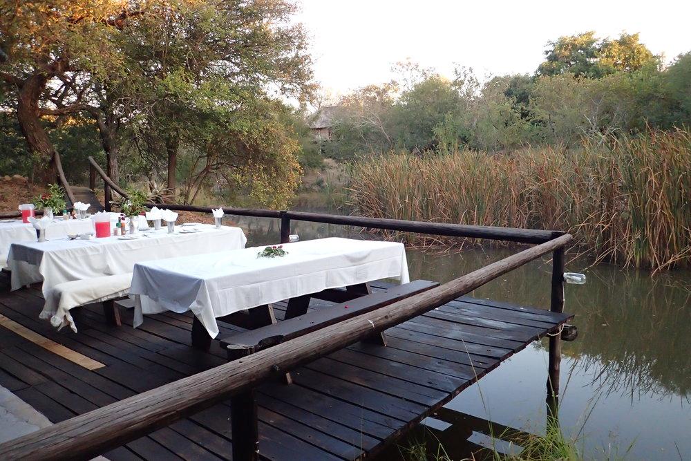 Beautiful dining setting at Marcs Treehouse Lodge
