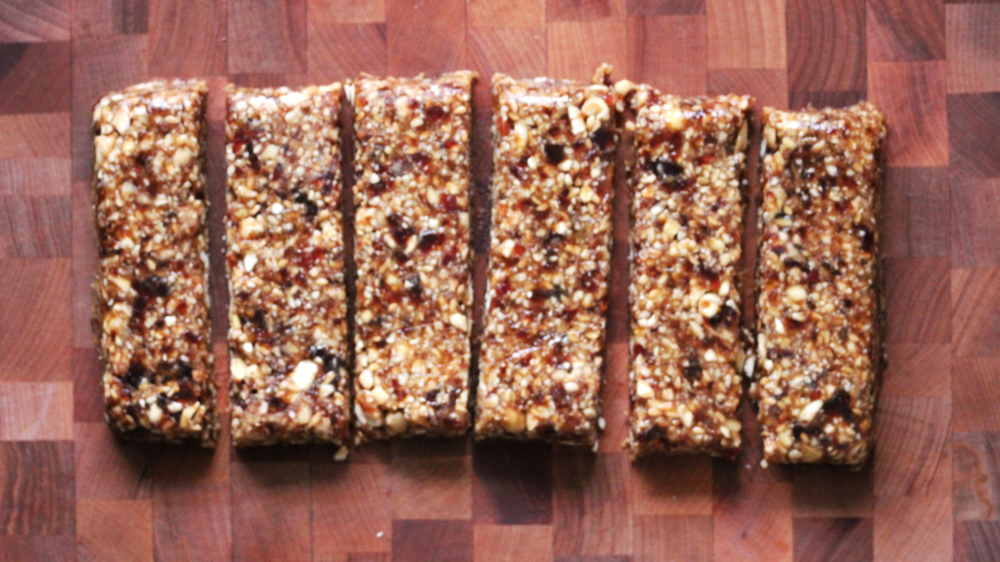 Step 7: Unwrap bars and slice into 6 pieces.