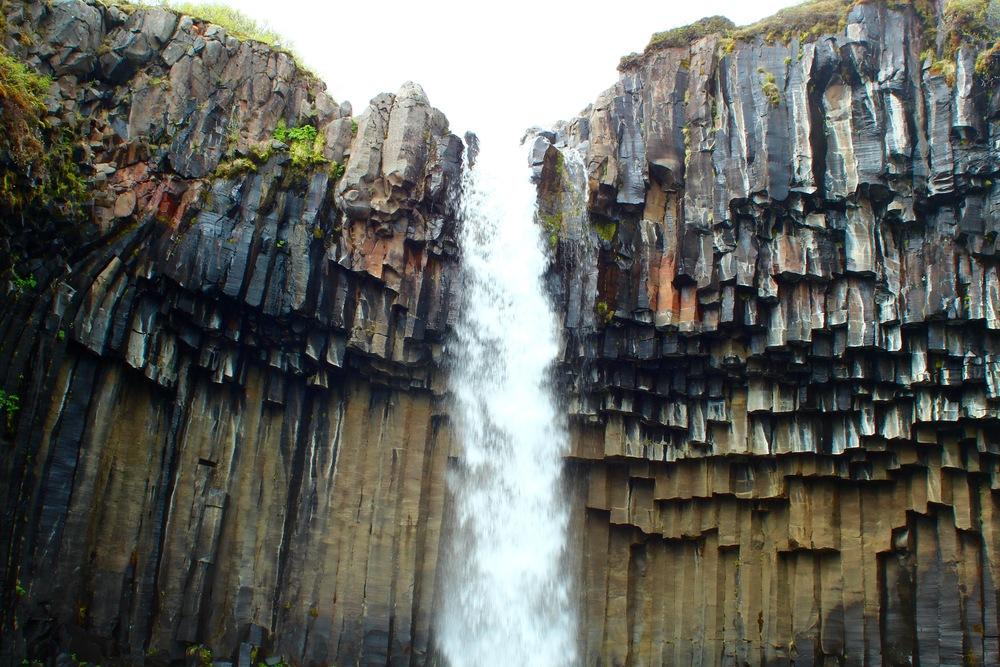Svartifoss, the black waterfall.