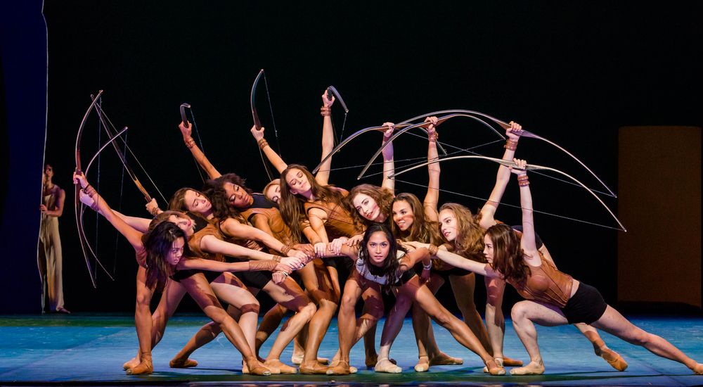 Ladies of the Joffrey Ballet in John Neumeier's Sylvia. Photo by Cheryl Mann.