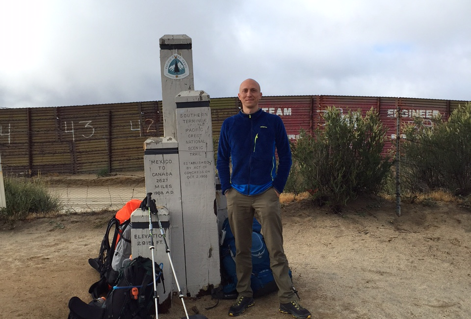 Pacific Crest Trail Southern Terminus, Mexico border [day 1]