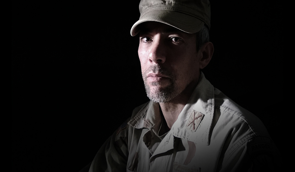 Photo of Iraq Veteran Alex Limkin, used as part of Vet Visions and Voices promotional campaign Tools used: Nokia Lumia 920 Adobe Photoshop Adobe Bridge