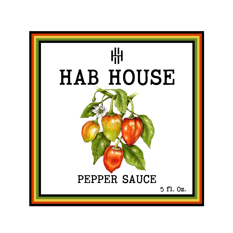 Hab House Pepper Sauce Label
