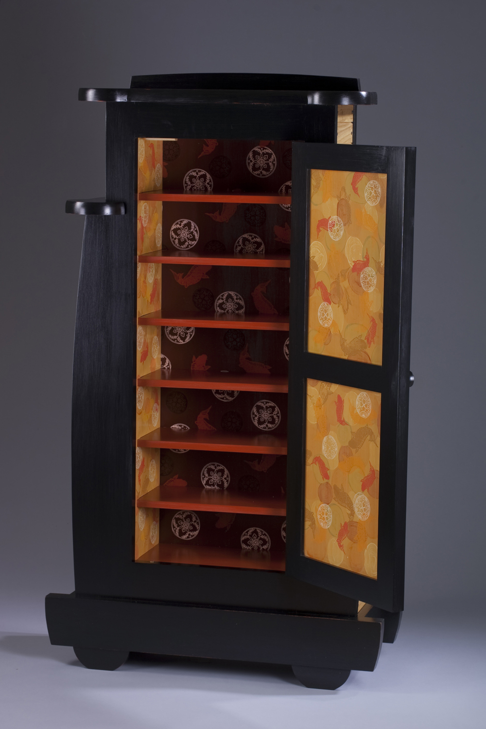 Lily Pond Cabinet (inside view)