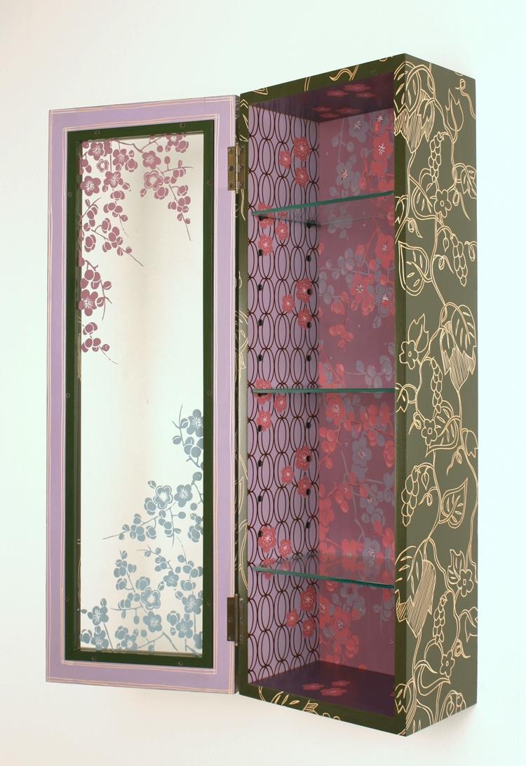Purple Cherry Blossom Cabinet