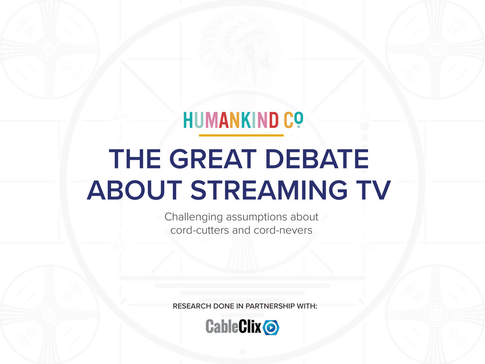 CHECK OUT OUR LATEST THINKING IN A RECENTLY AUTHORED WHITE PAPER ON THE FUTURE OF TV STREAMING - CLICK-THROUGH TO DOWNLOAD