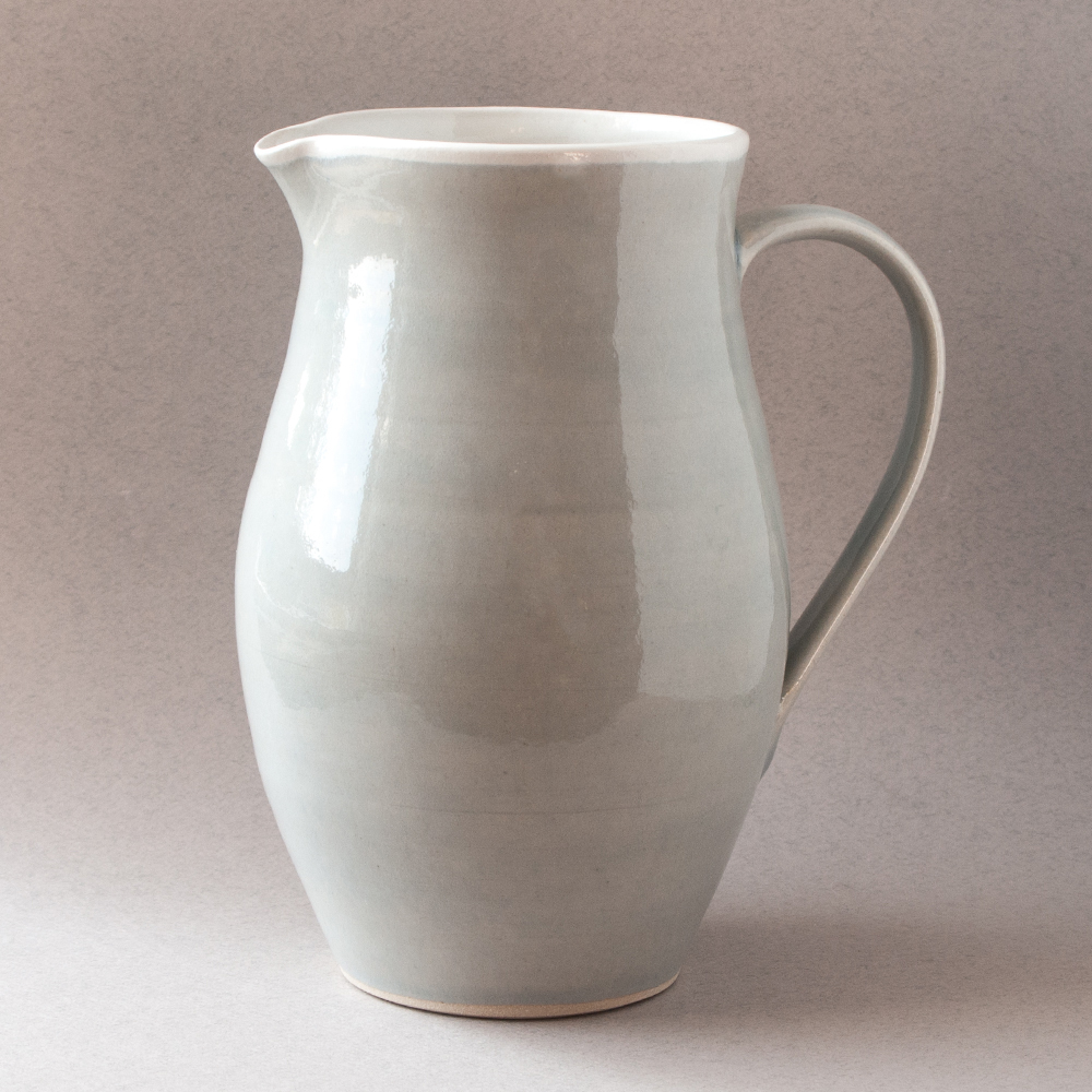 Topsy Jewell grey pottery jug