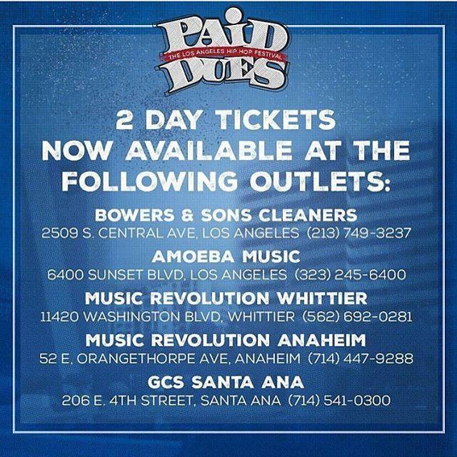Get your 2day tickets! @musicrevwhittier @musicrev_anaheim @amoebahollywood @gcssantaana #paiddues