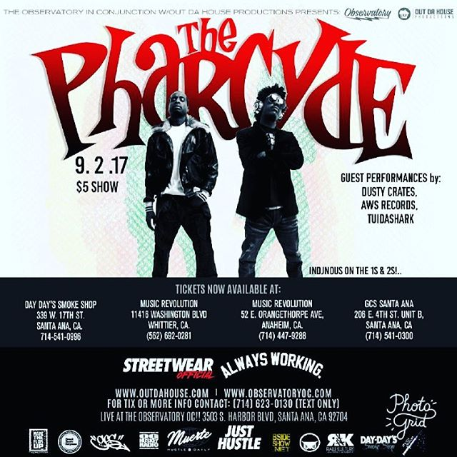 DOORS OPEN AT 9 pm!  #thepharcyde