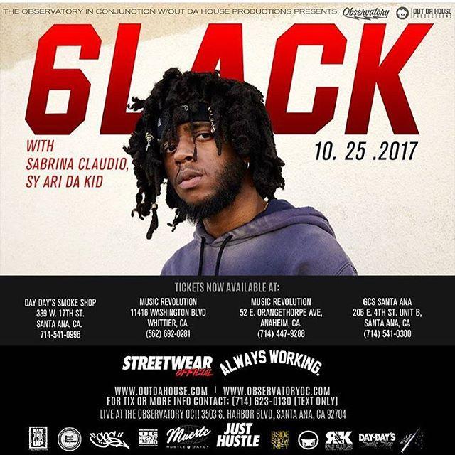 Get your tickets @musicrevwhittier #6lack