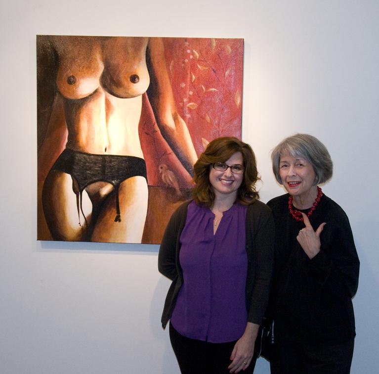 Tatiana von Tauber and local Savannah artist, Boby Perry.