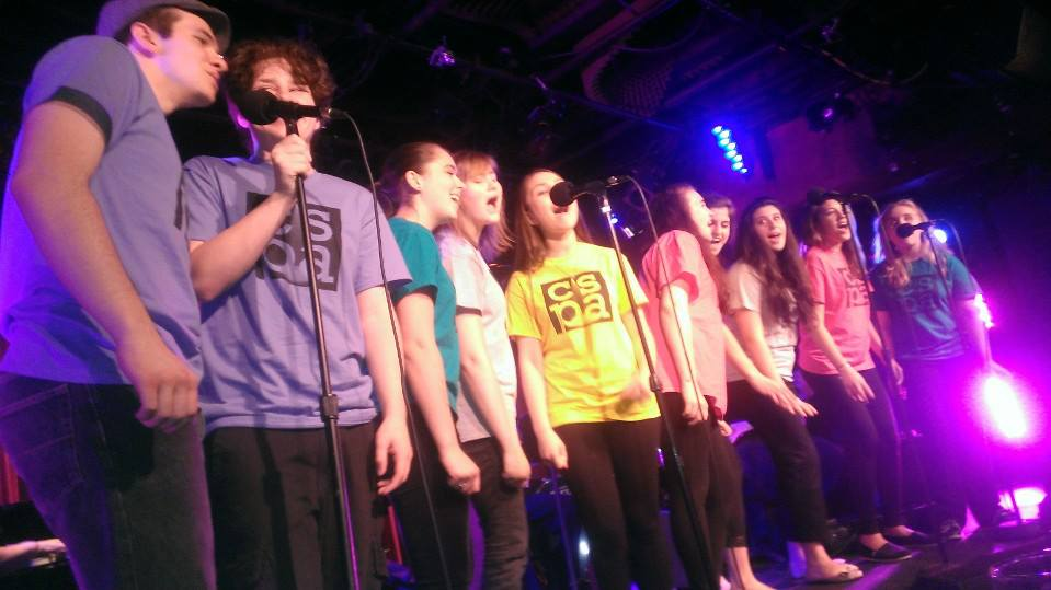 CSPA's Teen Choir, Revolution, performing livein New York City Off Broadway at the Laurie Beechman Theater.