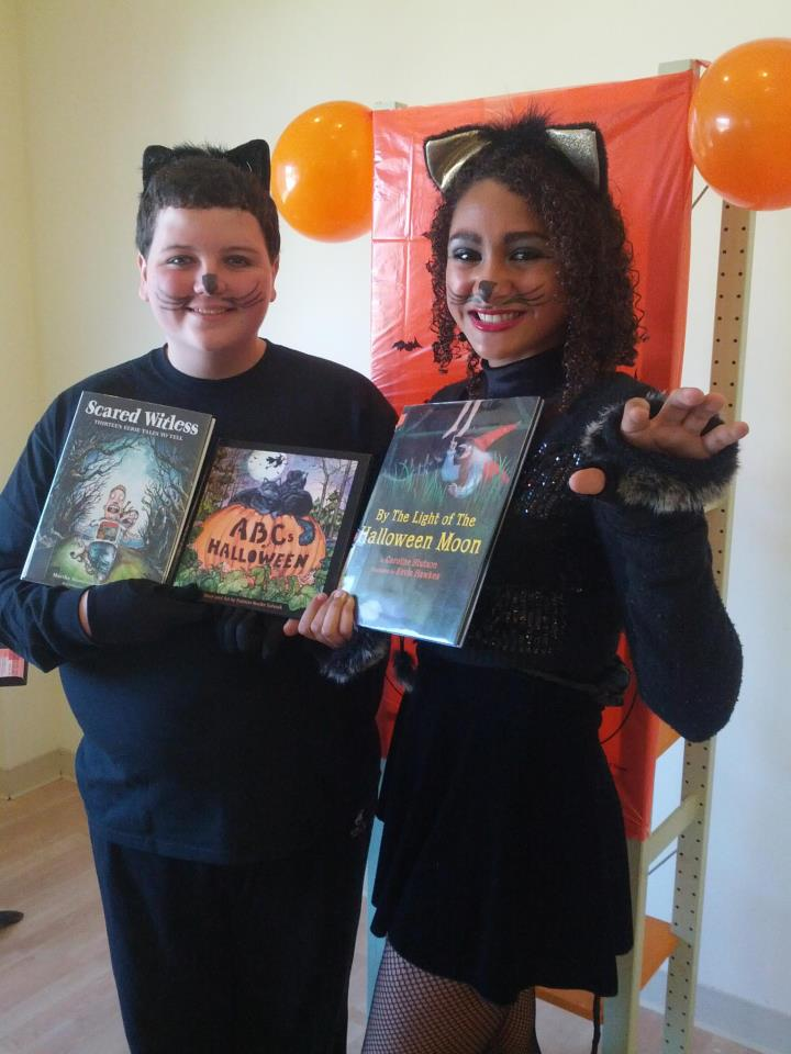 Halloween special event for children- Our costumed HS kids read several books for the kids!  What fun.
