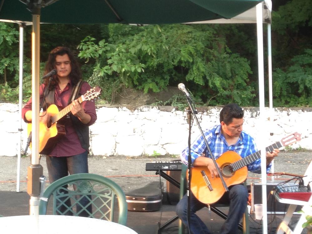 "Santiago Duo at Tenampa, July, 2014 CSPA Summer Music Series ""Under the Tent"""