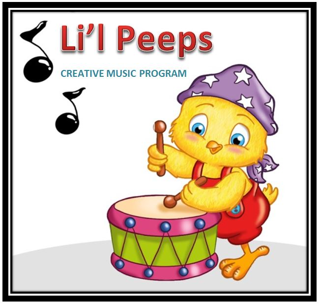 LITTLE PEEPS CREATIVE MUSIC PROGRAM: Piano Instruction Ages 3-5 yrs old    10 sessions @ $20 per session DATES: TO BE ANNOUNCED
