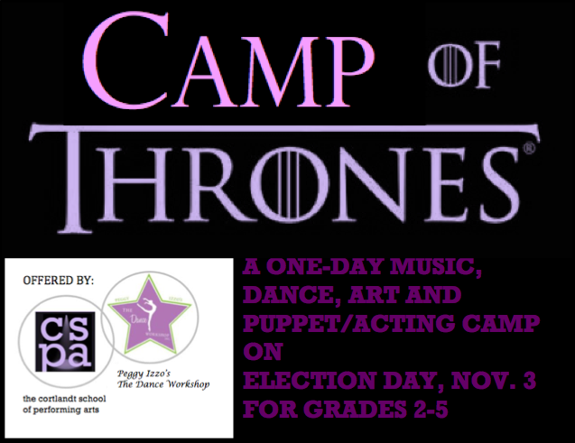 REGISTRATION CLOSED FULL DAY CAMP on November 3rd (Election Day)