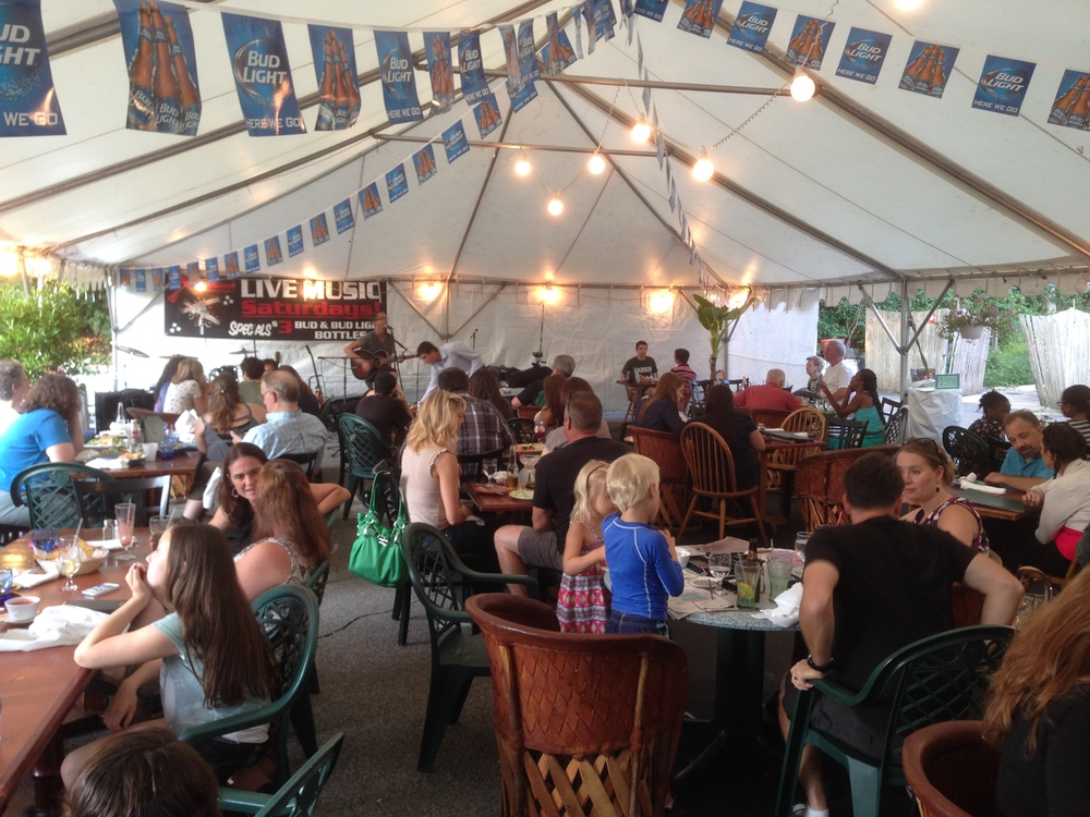 "A full crowd ""Under the Tent"" at Tenampa's Teen Night, Aug. 2014"
