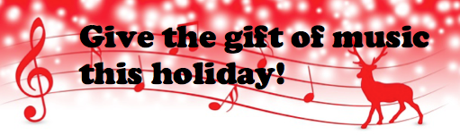 CLICK ON THE REINDEER TO LEARN MORE ABOUT OUR HOLIDAY SPECIALS: DISCOUNTED MUSIC LESSONS AND MUSICAL INSTRUMENTS MAKE GREAT GIFTS!