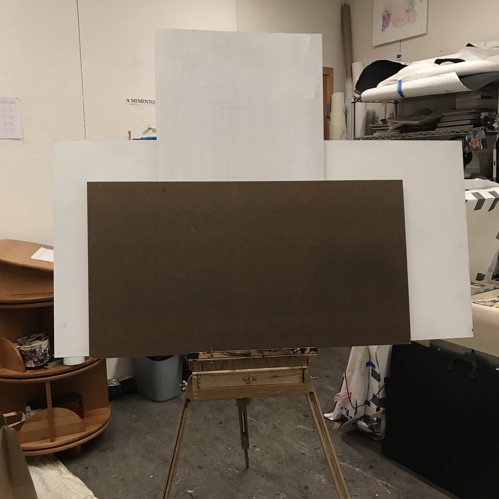 I'll be bringing my trusty-yet-rusty travel easel to do plein air paintings on the production floor of Mudshark, LLC.