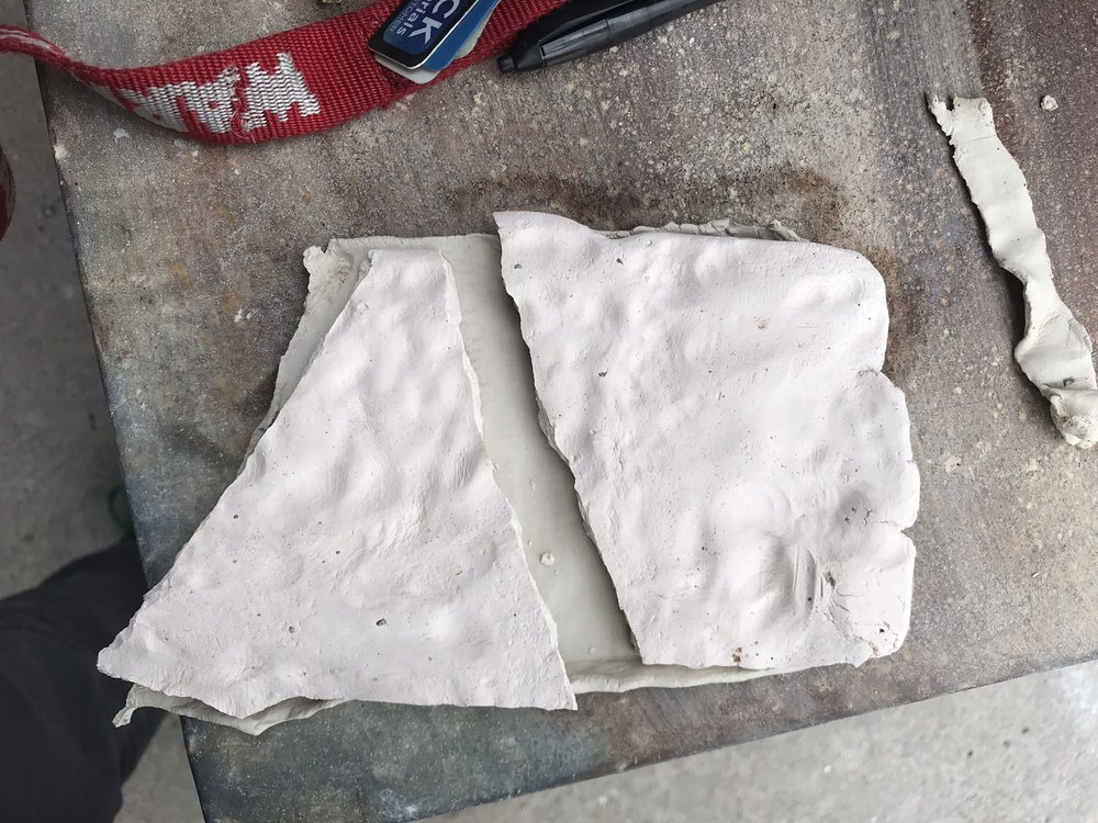 I'm prepping slabs, a damp box , a toolkit for ceramic slab pressing on-the-go…