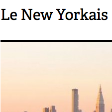 LE NEW YORKAIS - NEW YORK - 31/10/2014