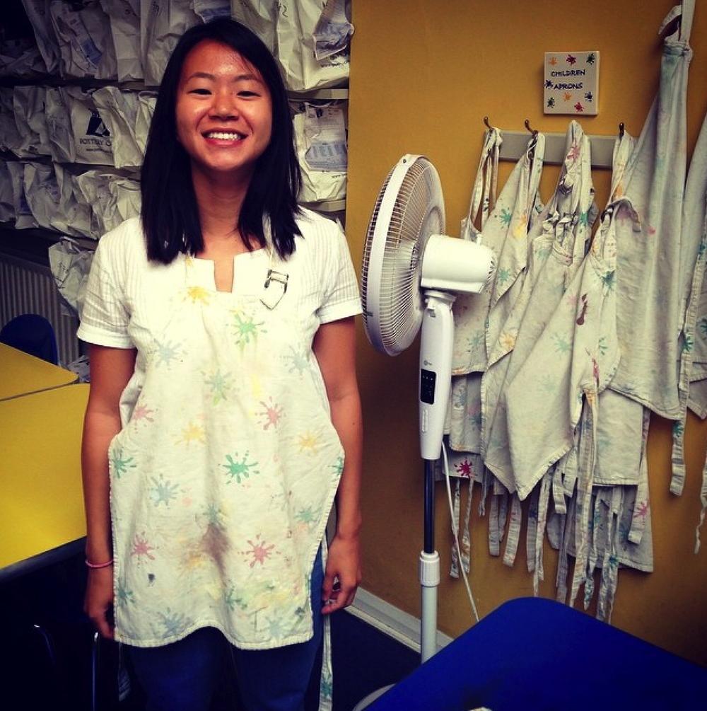 """A little apron for a little person"" (the children's aprons...)"