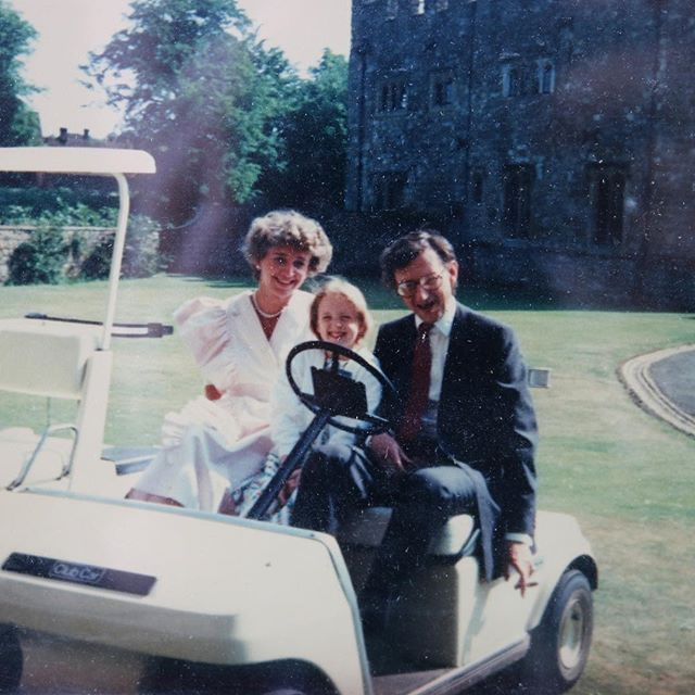 My parents on the day they got engaged on my grandfathers bday, with Soph unwittingly enlisted to make sure they behaved😂 #chaperoneduties #family #80s #madmen #shesaidyes
