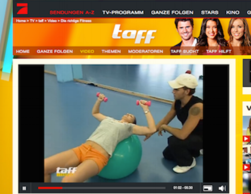 Television Video, Personal Trainer NY, New York Body Plan