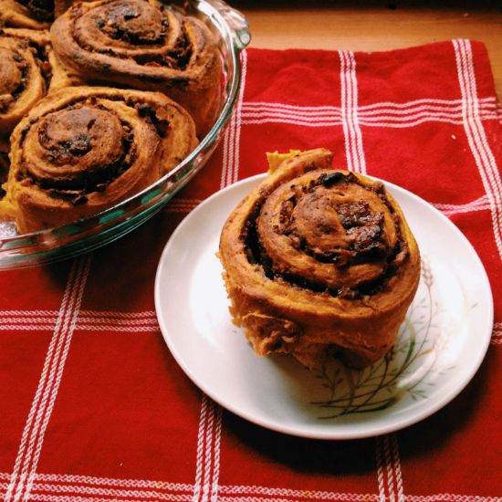 pumpkin cinnamon buns recipe 1