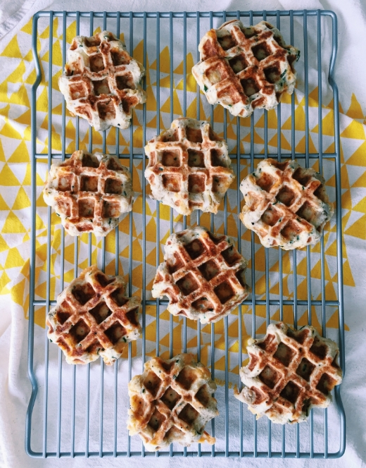 cheddar and chives mashed potato waffles recipe 1
