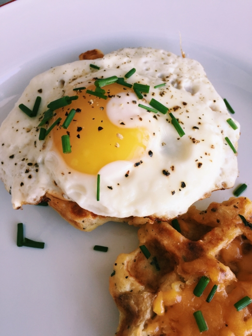 cheddar and chives mashed potato waffles recipe 2