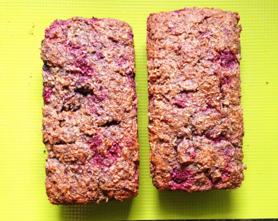Raspberry Poppy Seed Coconut Loaf Recipe 2