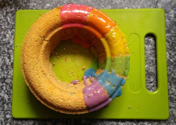 rainbow rye birthday cake