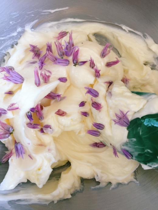 chive blossom compound butter 3