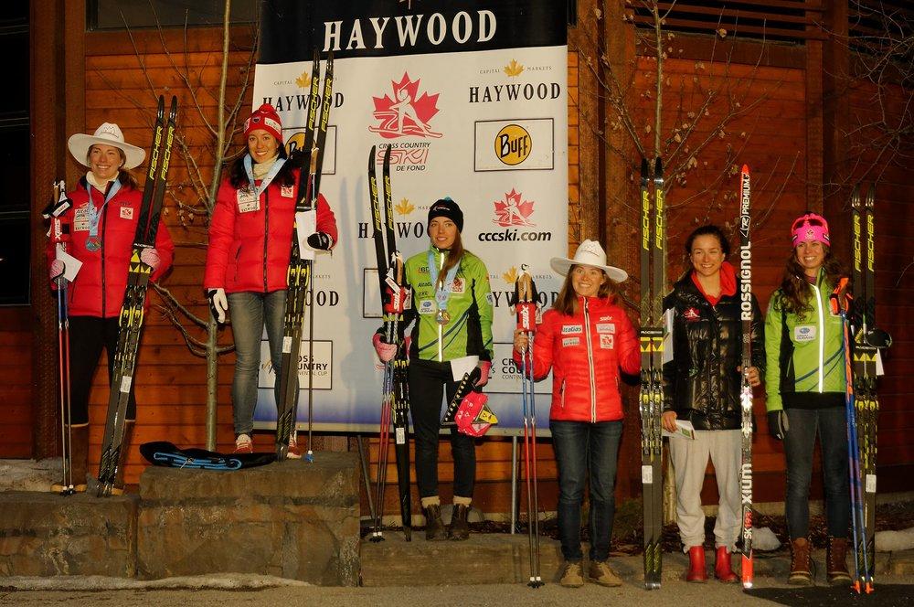 Sprint podium. Dahria, me, Katherine, Annika, Sophie and Alannah.