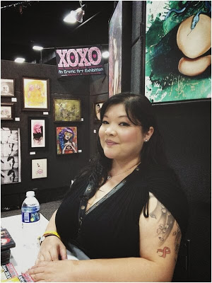 BBW Performer of the Year   Kelly Shibari  stopped by the XOXO booth