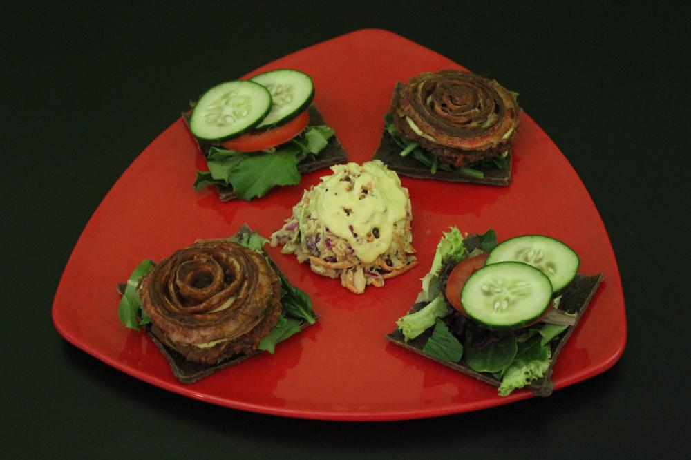 Raw Burger Platter