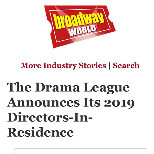 Exciting news! We can't wait to continue developing this new work. Grateful to @dramaleague and @lpaconthemap