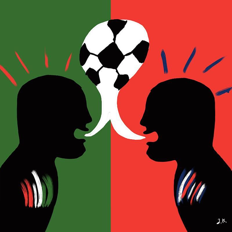"""Italia vs Costa Rica"" por Kim Kuhn Croc"