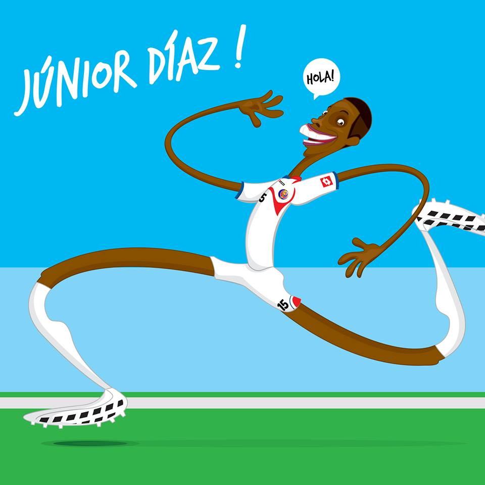 "Júnior ""Zancudo"" Díaz por Felipe de la Parra"