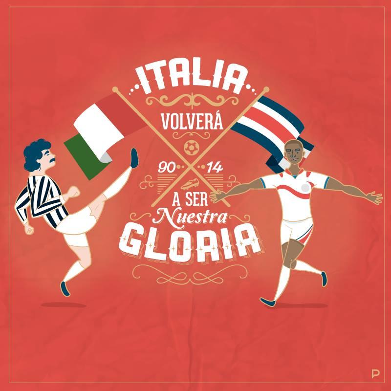 """Italia volverá a ser Nuestra Gloria"" por Nani Astua"