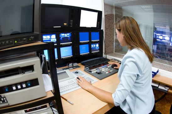 TV director at editor