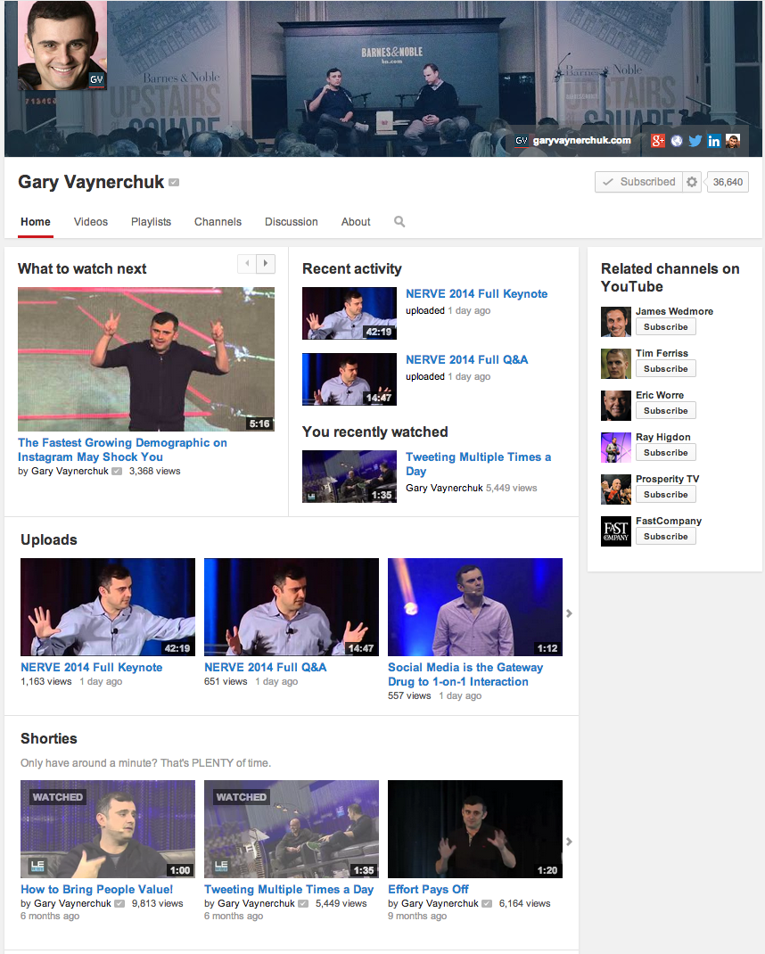 Gary Vaynerchuck on YouTube