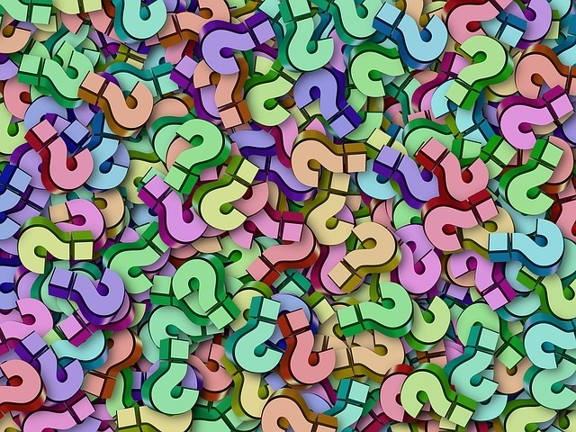 Questions, questions, questions Picture from www.pixabay.com CC0