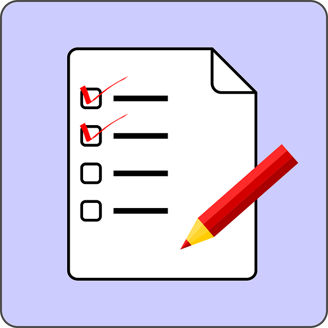 Checklist, from Pixabay.com CC0