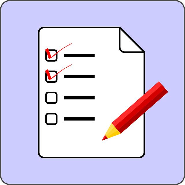 Checklist, from Pixabay.com CC0