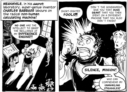 Panel from The Thrilling Adventures of Lovelace and Babbage