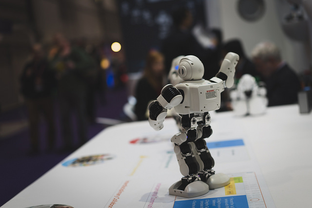 Robot at Bett 2017, (c) Paul Hudson, CCBY2.0
