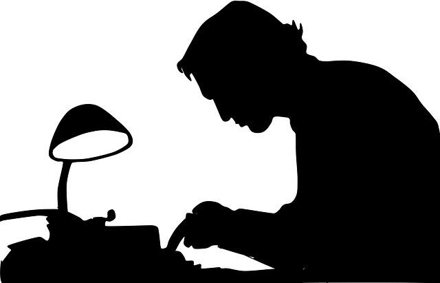 Writer, by Waldryano. CC0 licence.